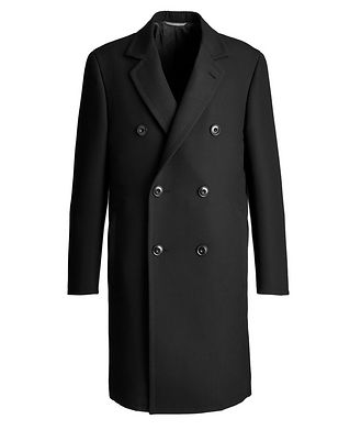 Canali Double-Breasted Wool Overcoat