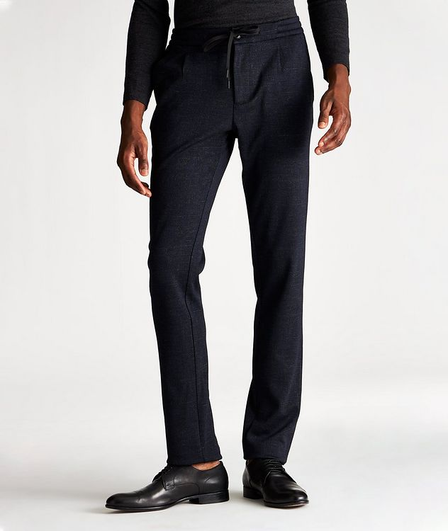 Wool-Blend Drawstring Joggers picture 1