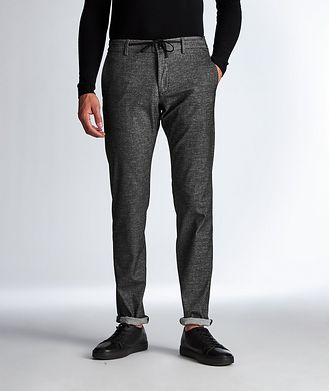 Canali Washed Yarn Stretch-Cotton Pants