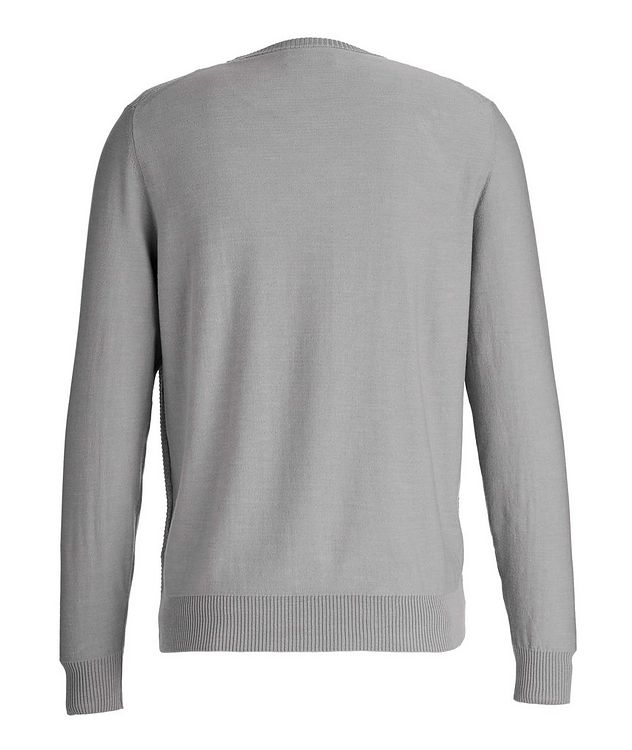 Tile-Knit Stretch-Cotton Sweater picture 2