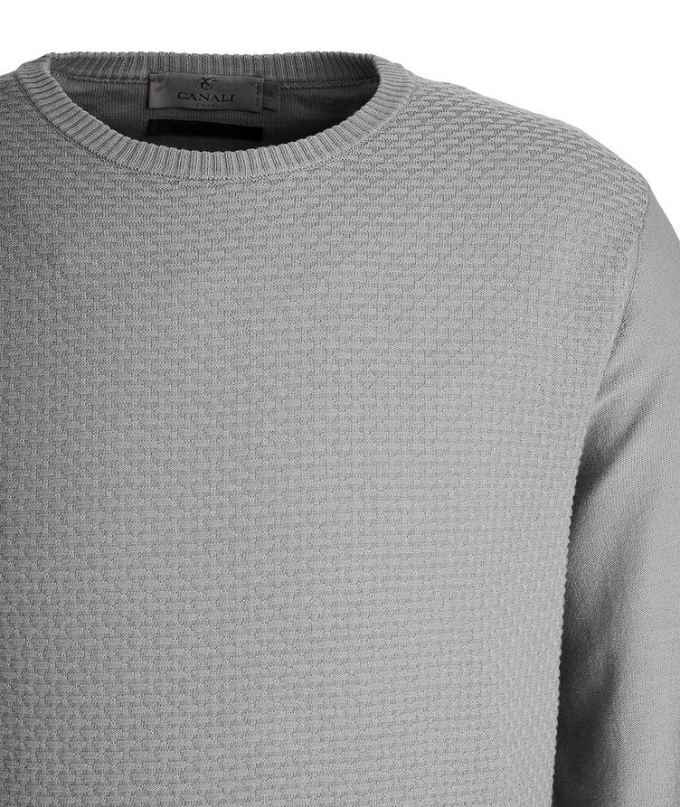 Tile-Knit Stretch-Cotton Sweater image 2