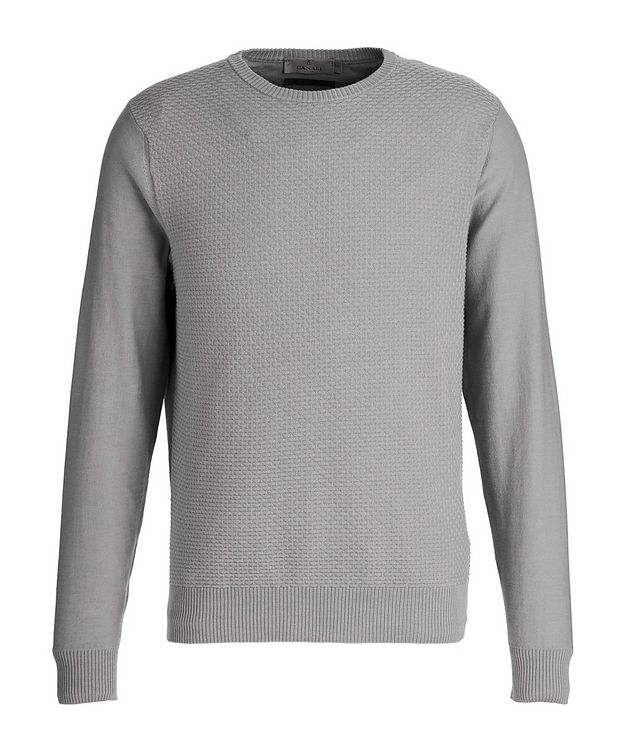 Tile-Knit Stretch-Cotton Sweater picture 1