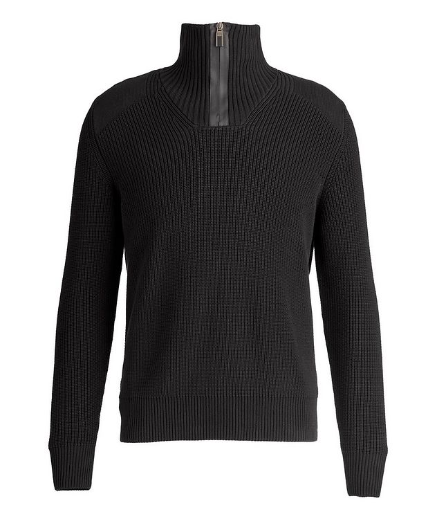 Half-Zip Cable-Knit Sweater picture 1