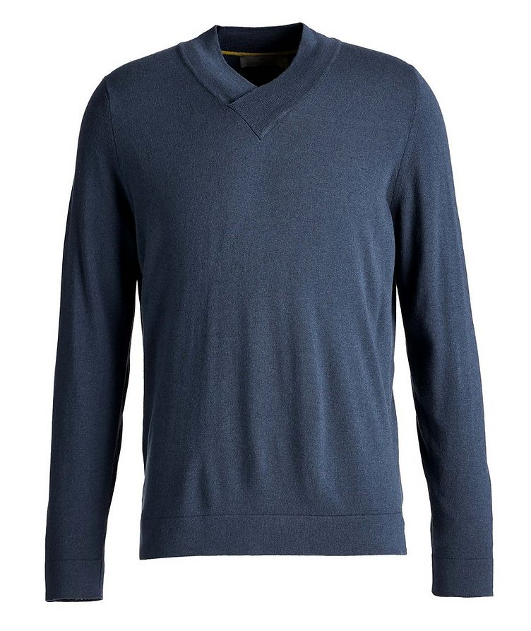 V-Neck Wool-Blend Sweater image 0
