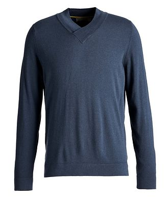 Canali V-Neck Wool-Blend Sweater