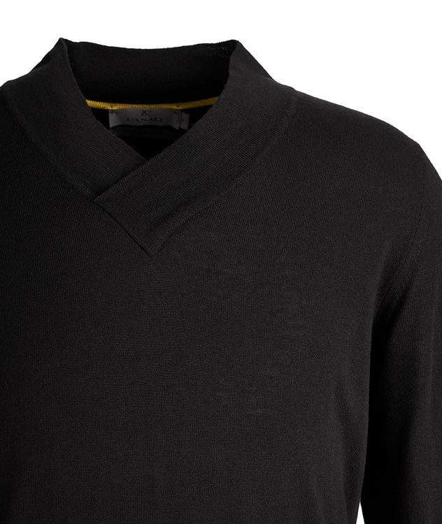 V-Neck Wool-Blend Sweater picture 2