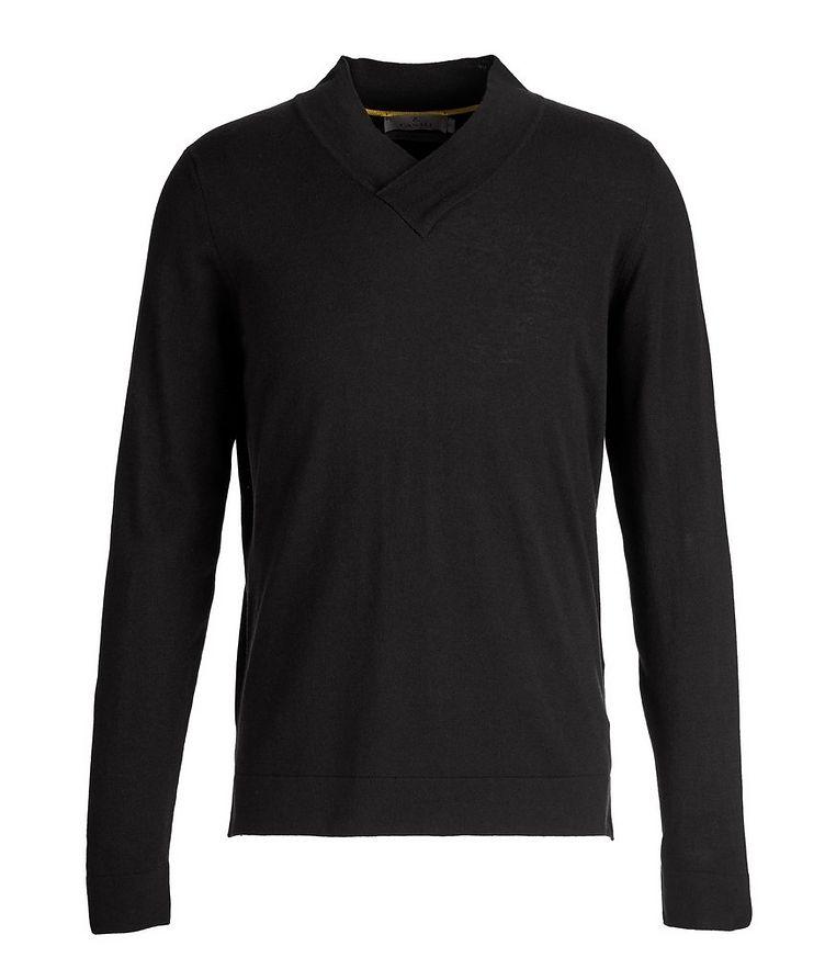 V-Neck Wool-Blend Sweater image 0