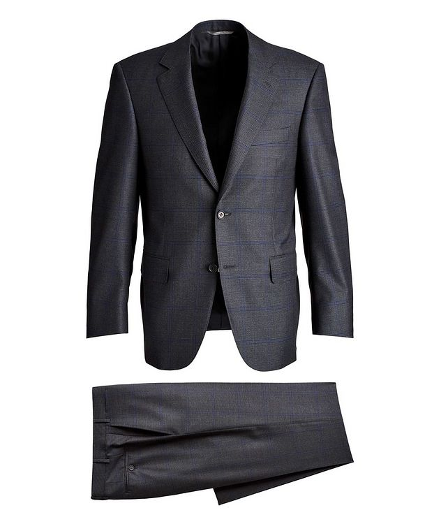 Checked Wool Suit picture 1