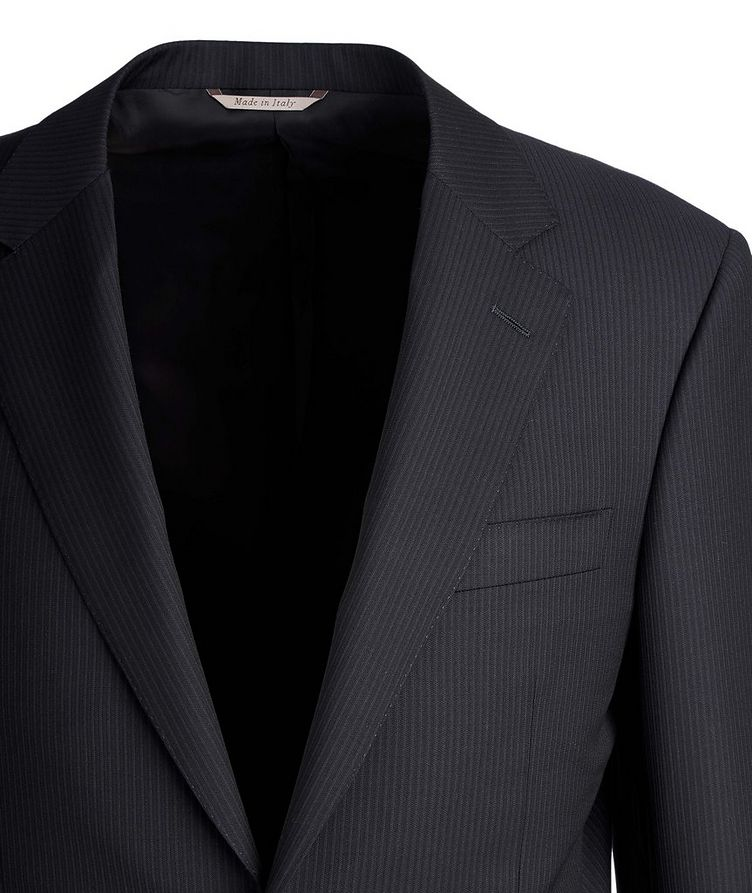 Exclusive Contemporary Fit Striped Wool Suit image 1