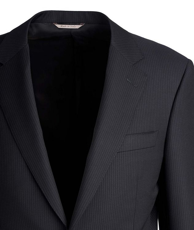 Exclusive Contemporary Fit Striped Wool Suit picture 2