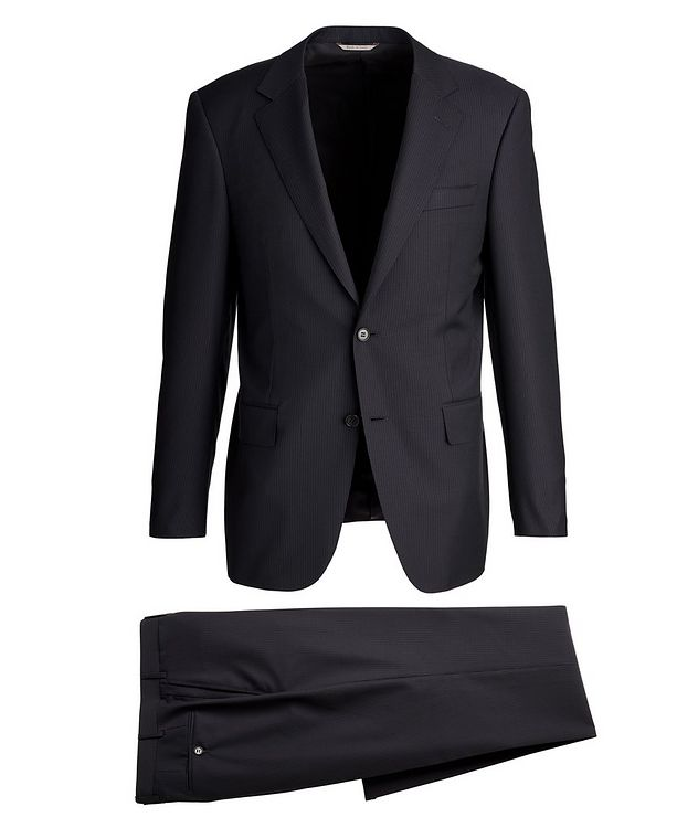 Exclusive Contemporary Fit Striped Wool Suit picture 1