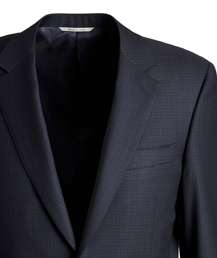 Contemporary-Fit Patterned Wool Suit image 1