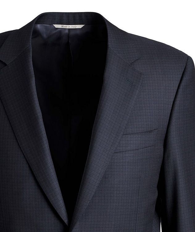 Contemporary-Fit Patterned Wool Suit picture 2