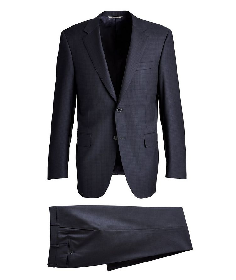 Contemporary-Fit Patterned Wool Suit image 0