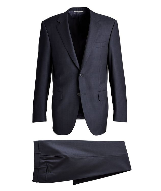 Contemporary-Fit Patterned Wool Suit picture 1
