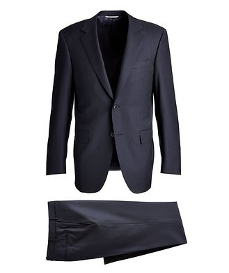 Canali Contemporary-Fit Patterned Wool Suit