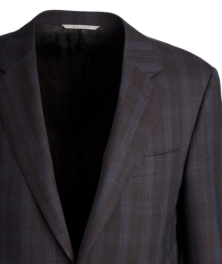 Impeccabile Checkered Contemporary Fit Suit image 1
