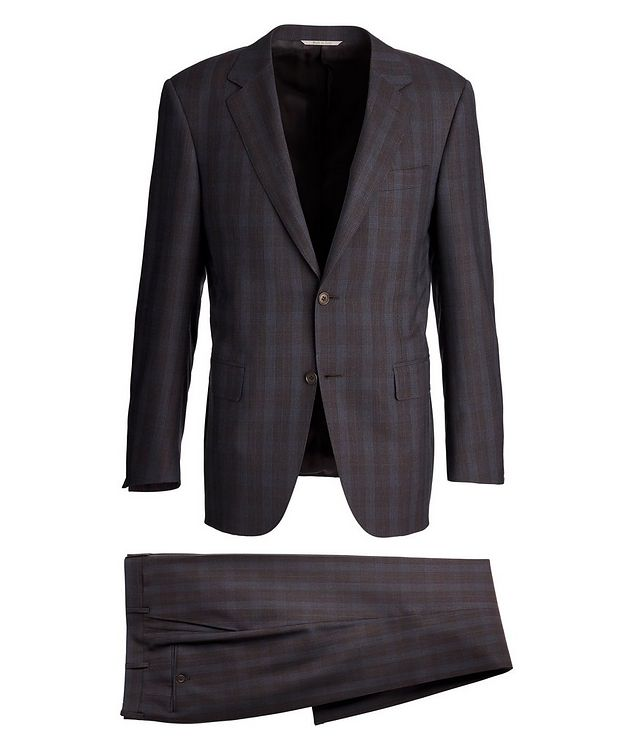 Impeccabile Checkered Contemporary Fit Suit picture 1