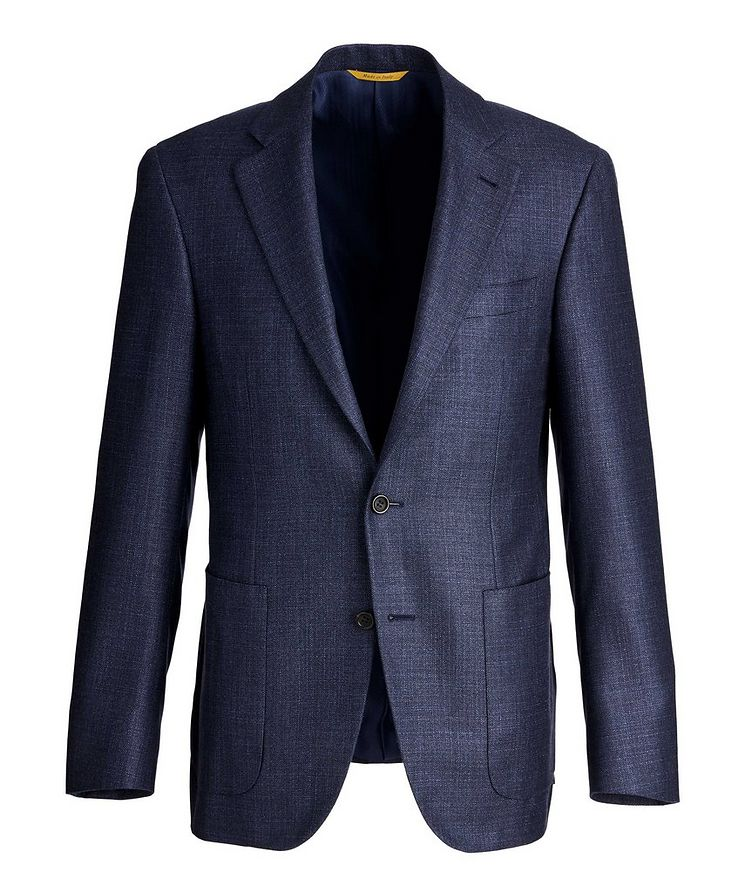 Kei Textured Silk-Cashmere Sports Jacket image 0