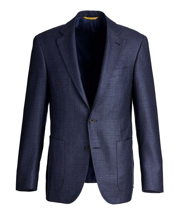 Kei Textured Silk-Cashmere Sports Jacket picture 1