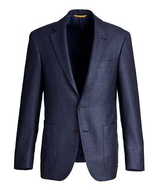 Canali Kei Textured Silk-Cashmere Sports Jacket