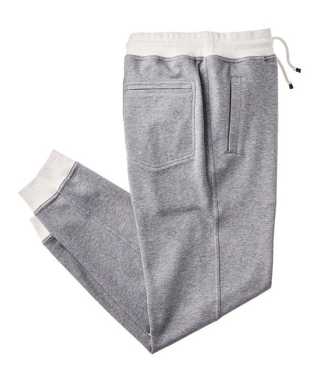 Cotton-Blend Drawstring Joggers picture 1