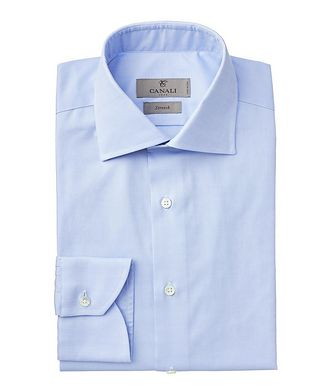 Canali Contemporary Fit Stretch-Cotton Dress Shirt
