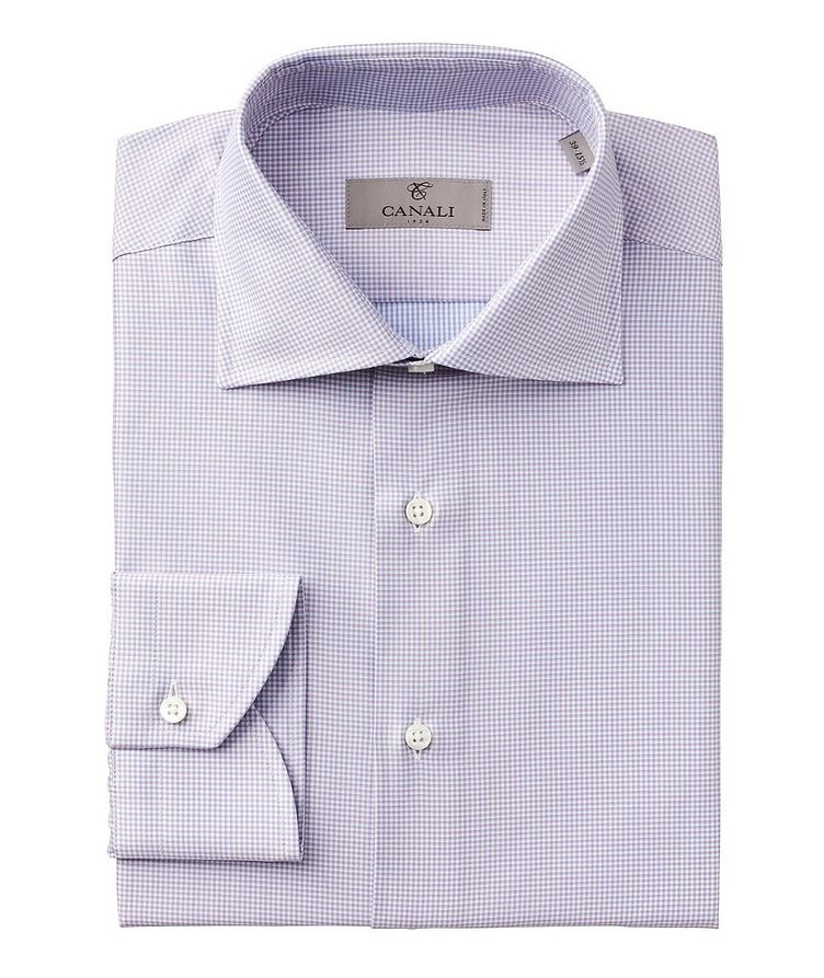 Contemporary Fit Micro Check Cotton Dress Shirt image 0