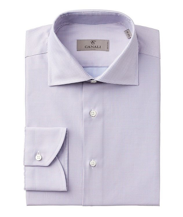 Contemporary Fit Micro Check Cotton Dress Shirt picture 1