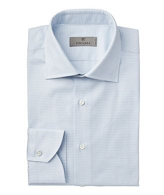 Canali Contemporary Fit Printed Dress Shirt