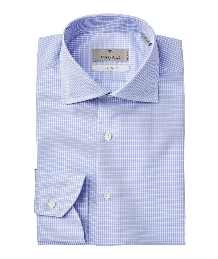 Impeccabile Micro-Checked Dress Shirt image 0