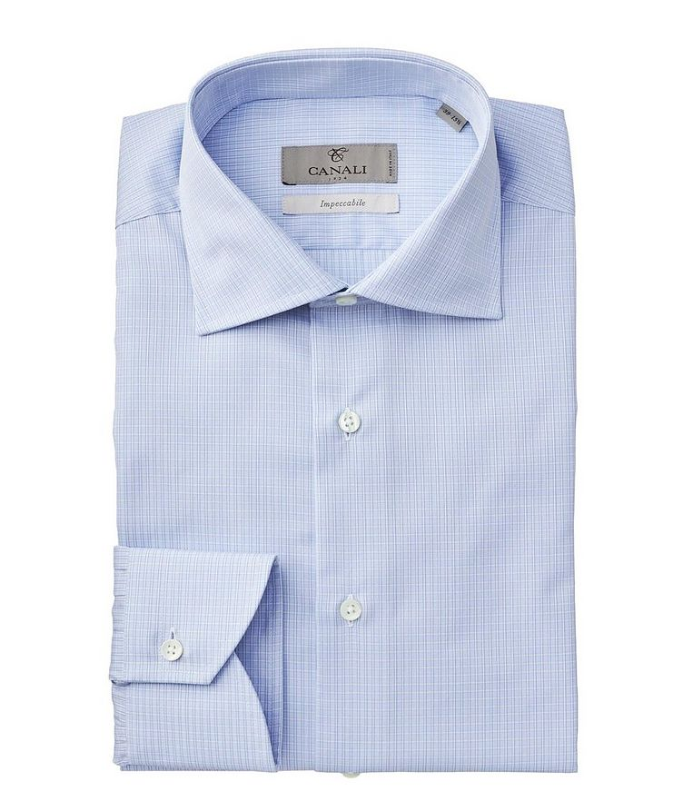 Impeccabile Grid-Printed Dress Shirt image 0