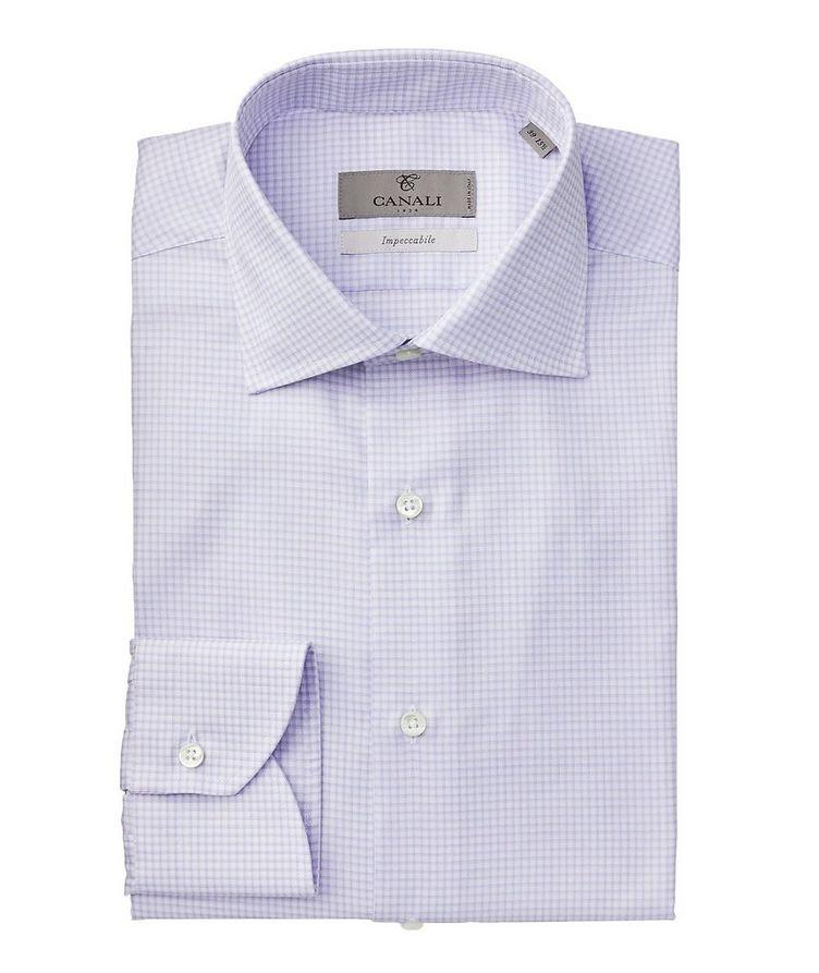 Impeccabile Grid-Printed Dress Shirt image 0