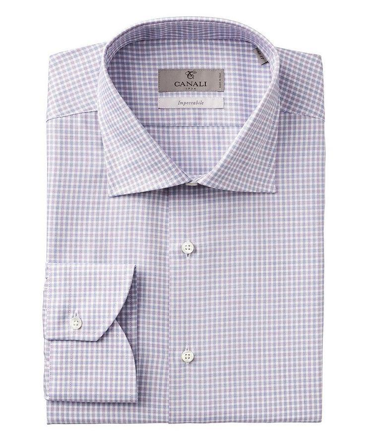 Impeccabile Checked Cotton Dress Shirt image 0