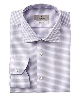 Canali Impeccabile Checked Cotton Dress Shirt