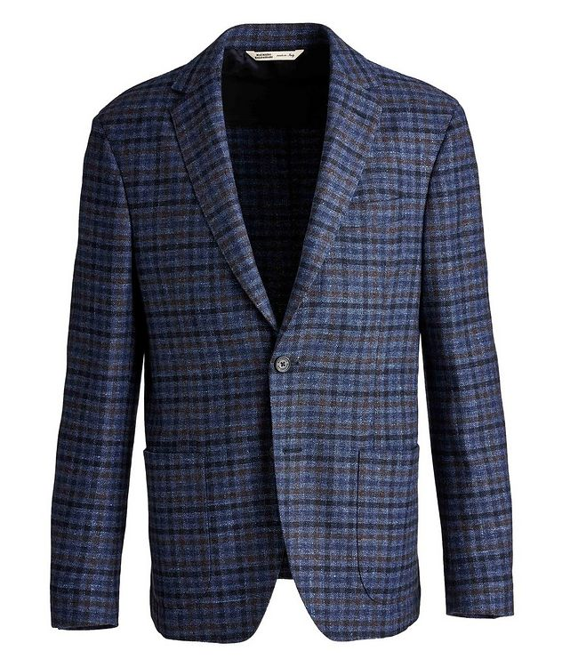 Checkered Wool, Silk, and Cashmere Sports Jacket picture 1