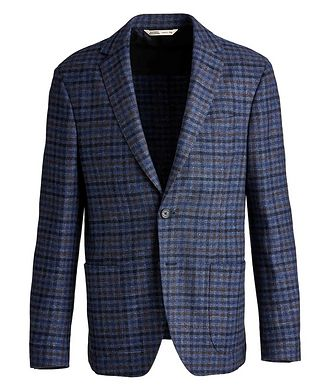 Maurizio Baldassari Checkered Wool, Silk, and Cashmere Sports Jacket