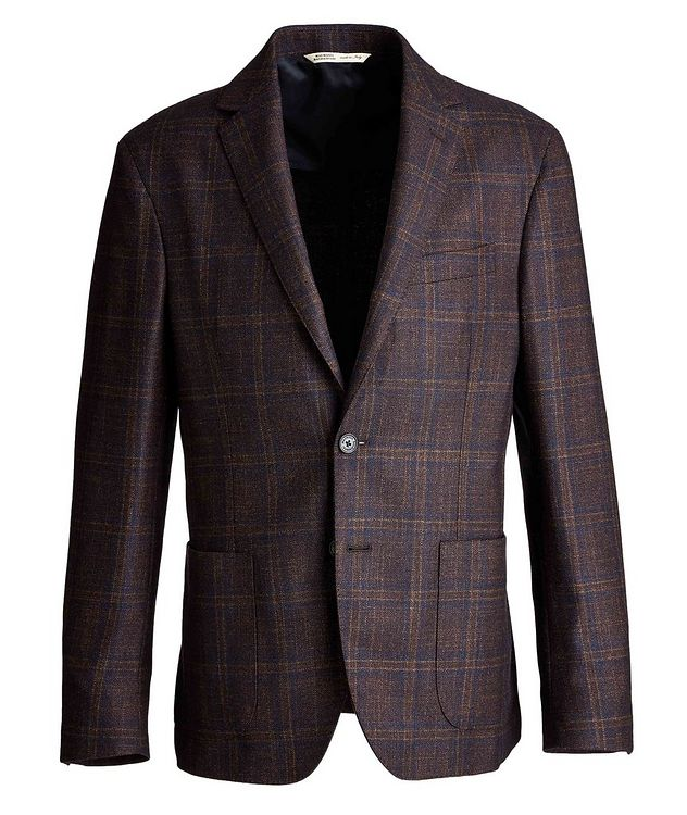 Checked Wool, Silk, and Cashmere Sports Jacket picture 1