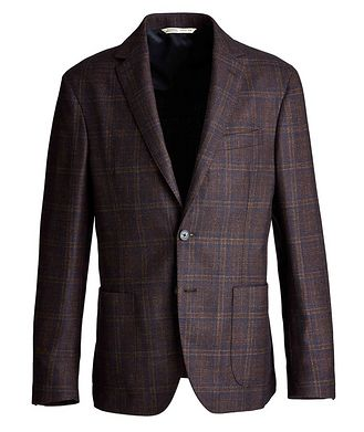 Maurizio Baldassari Checked Wool, Silk, and Cashmere Sports Jacket