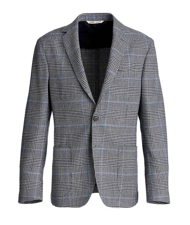 Checked Virgin Wool Sports Jacket picture 1