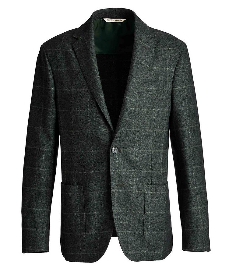 Checked Virgin Wool, Silk, and Cashmere Sports Jacket image 0