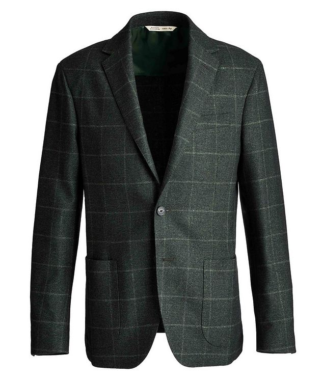 Checked Virgin Wool, Silk, and Cashmere Sports Jacket picture 1