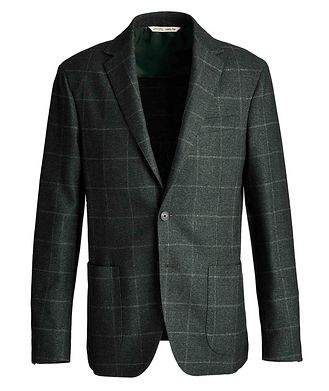 Maurizio Baldassari Checked Virgin Wool, Silk, and Cashmere Sports Jacket