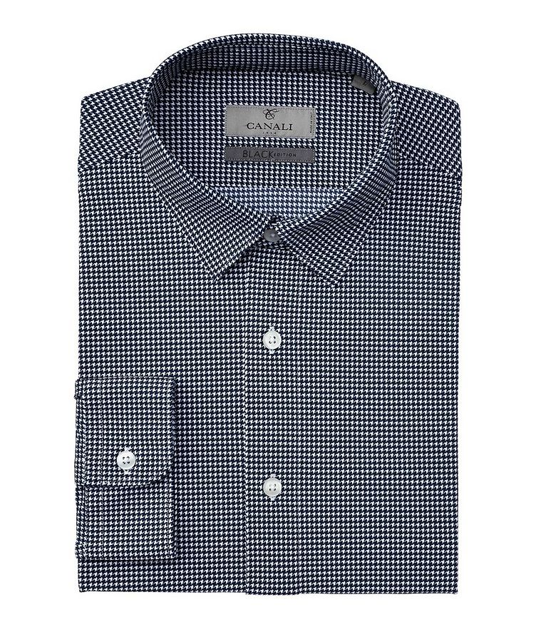 Slim-Fit Houndstooth Stretch Shirt image 0