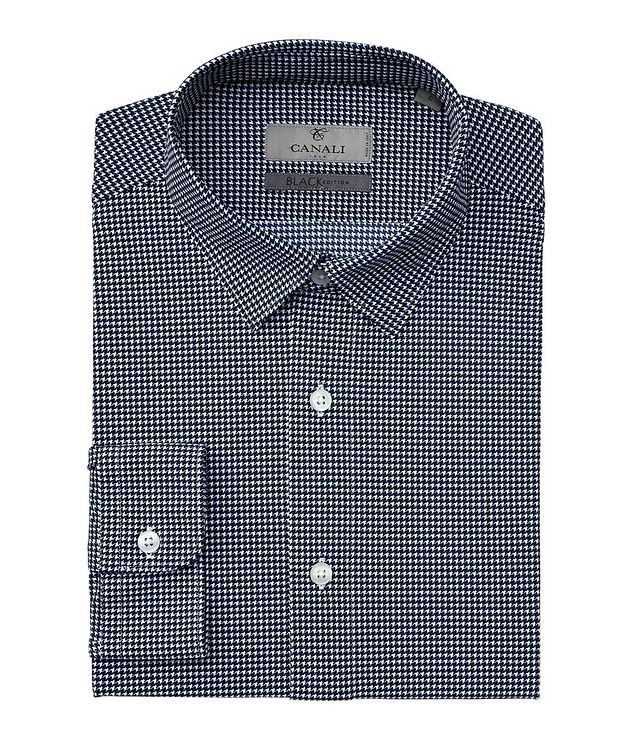 Slim-Fit Houndstooth Stretch Shirt picture 1