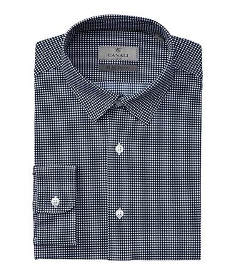 Canali Slim-Fit Houndstooth Stretch Shirt