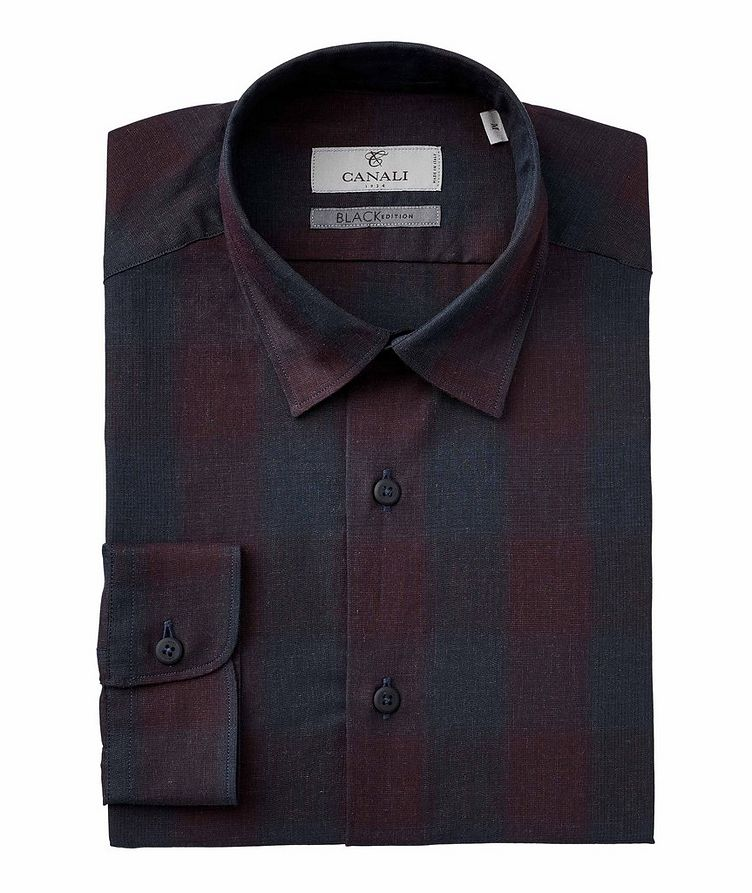 Slim-Fit Plaid Cotton Shirt image 0