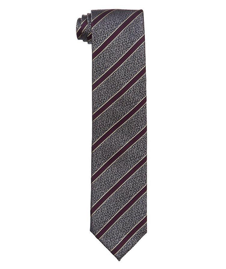 Neat Striped Silk Tie image 0