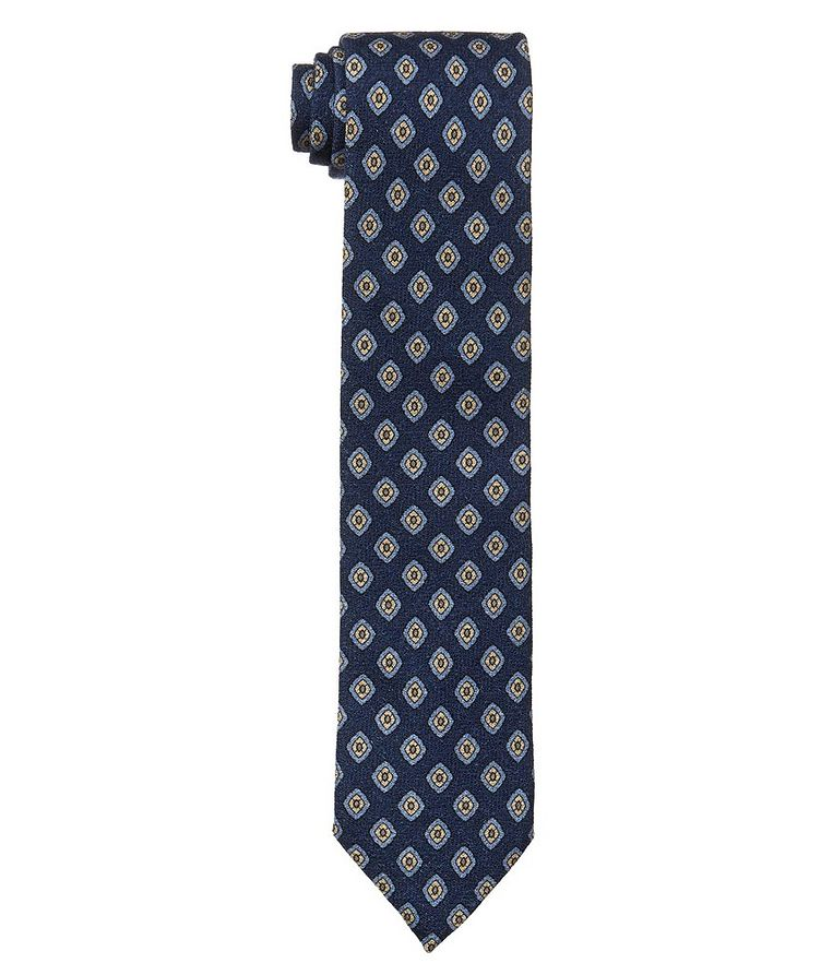 Neat Print Wool-Silk Tie image 0