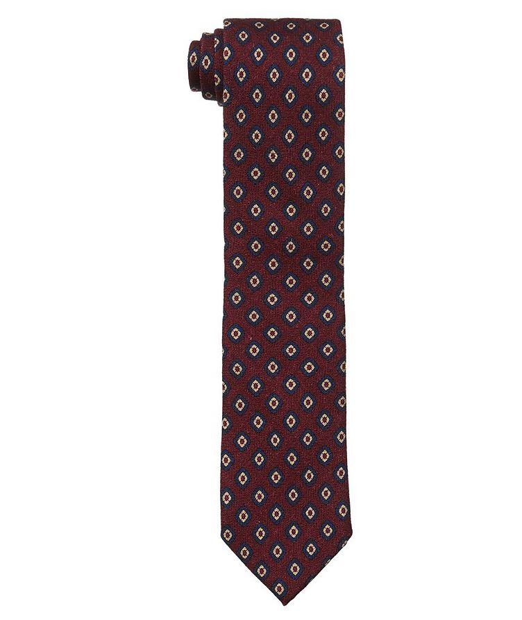 Neat Printed Silk Tie image 0